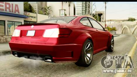 GTA 5 Benefactor Schwartzer für GTA San Andreas linke Ansicht