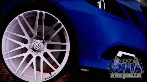 Brabus 900 pour GTA San Andreas sur la vue arrière gauche