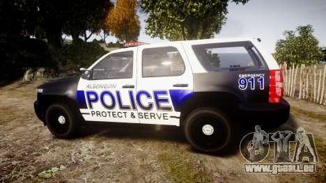 Chevrolet Tahoe 2010 Police Algonquin [ELS] pour GTA 4 est une gauche
