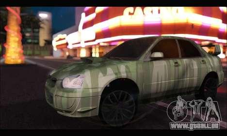 Subaru Impreza WRX Camo für GTA San Andreas linke Ansicht