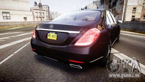 Mercedes-Benz S500 W222 für GTA 4 hinten links Ansicht