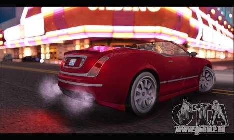 Enus Cognoscenti Cabrio (GTA V) pour GTA San Andreas sur la vue arrière gauche
