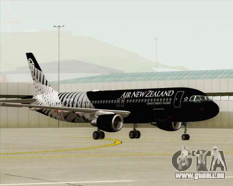 Airbus A320-200 Air New Zealand pour GTA San Andreas vue intérieure