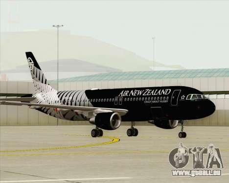 Airbus A320-200 Air New Zealand für GTA San Andreas Innenansicht