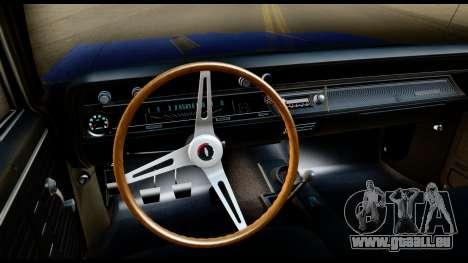 Chevrolet Chevelle SS 396 L78 Hardtop Coupe 1967 pour GTA San Andreas vue intérieure