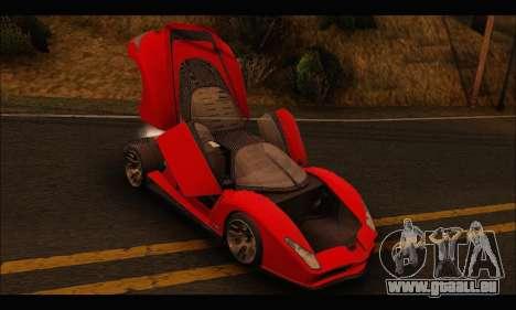 Grotti Cheetah v3 (GTA V) für GTA San Andreas Rückansicht