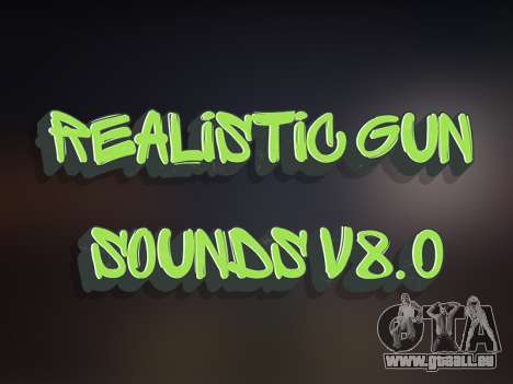 Realistic Gun Sounds v8.0 pour GTA San Andreas