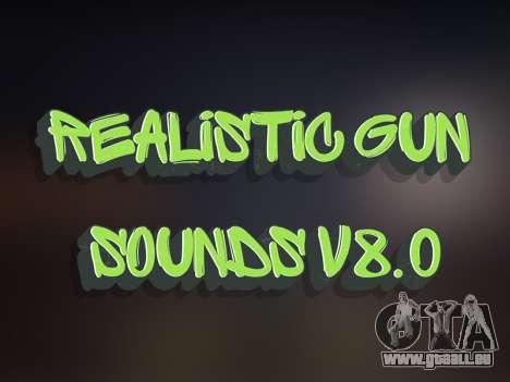 Realistic Gun Sounds v8.0 pour GTA San Andreas
