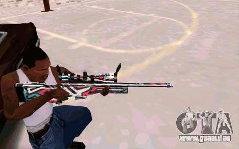 AWP L96A1 (Looney) pour GTA San Andreas troisième écran