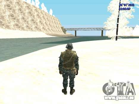 Les forces spéciales de la Fédération de russie pour GTA San Andreas troisième écran