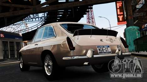 MGB GT 1965 pour GTA 4 Vue arrière de la gauche