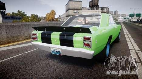Dodge Dart HEMI Super Stock 1968 rims3 pour GTA 4 Vue arrière de la gauche