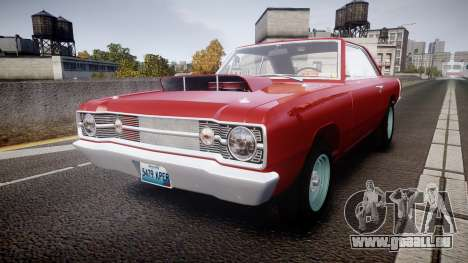 Dodge Dart HEMI Super Stock 1968 rims2 pour GTA 4