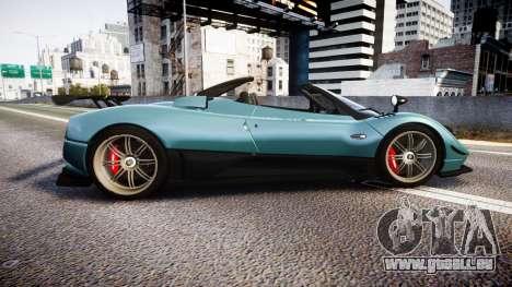Pagani Zonda Cinque Roadster 2010 pour GTA 4 est une gauche