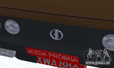 FSO Polonez 2.0X Coupe pour GTA San Andreas vue intérieure