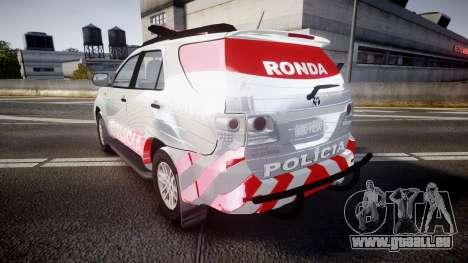 Toyota Hilux SW4 2014 Ronda PMCE [ELS] pour GTA 4 Vue arrière de la gauche
