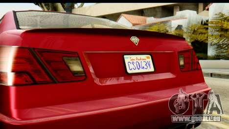 GTA 5 Benefactor Schwartzer pour GTA San Andreas vue de droite
