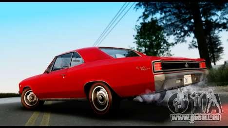 Chevrolet Chevelle SS 396 L78 Hardtop Coupe 1967 pour GTA San Andreas laissé vue