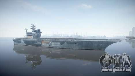 USS Flysenhower für GTA 4 Sekunden Bildschirm