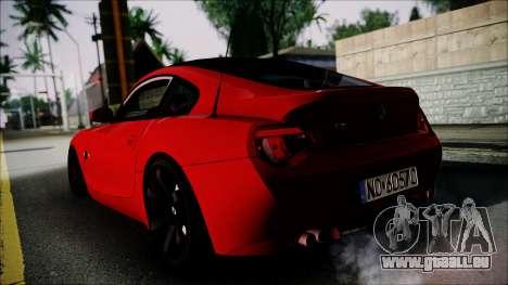 BMW Z4 M85 pour GTA San Andreas laissé vue