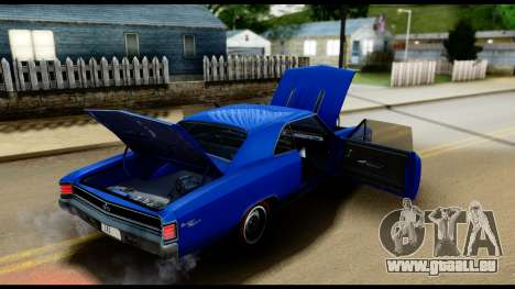Chevrolet Chevelle SS 396 L78 Hardtop Coupe 1967 für GTA San Andreas obere Ansicht