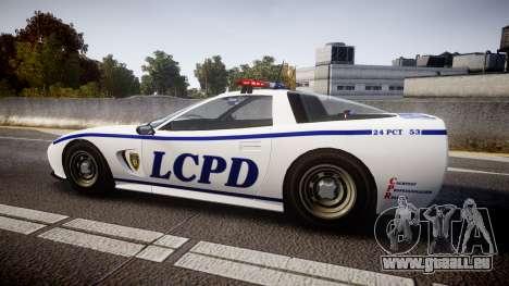 Invetero Coquette Police Interceptor [ELS] für GTA 4 linke Ansicht