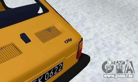 Fiat 126p FL pour GTA San Andreas vue intérieure