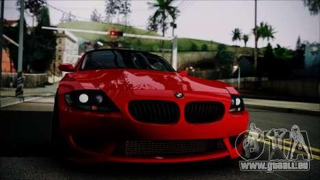 BMW Z4 M85 pour GTA San Andreas sur la vue arrière gauche
