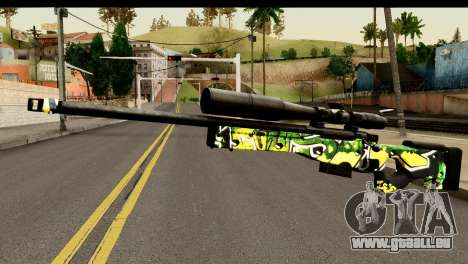 Grafiti Sniper Rifle für GTA San Andreas