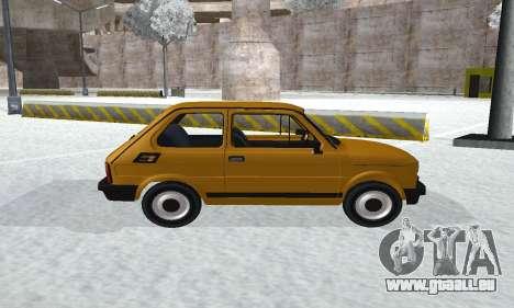 Fiat 126p FL pour GTA San Andreas sur la vue arrière gauche