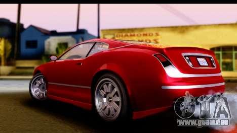 GTA 5 Enus Cognoscenti Cabrio IVF pour GTA San Andreas sur la vue arrière gauche
