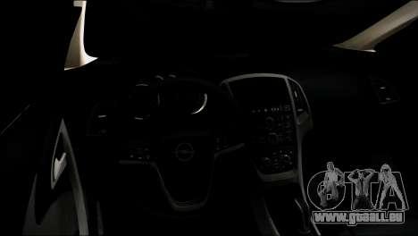 Opel Astra für GTA San Andreas Rückansicht