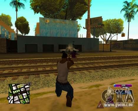 Space C-HUD v2.0 pour GTA San Andreas quatrième écran