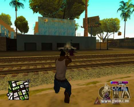 Space C-HUD v2.0 für GTA San Andreas her Screenshot