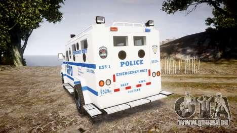 Lenco BearCat NYPD ESU [ELS] pour GTA 4 Vue arrière de la gauche