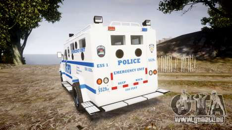Lenco BearCat NYPD ESU [ELS] für GTA 4 hinten links Ansicht