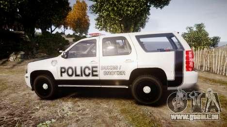 Chevrolet Tahoe 2010 Sheriff Dukes [ELS] für GTA 4 linke Ansicht