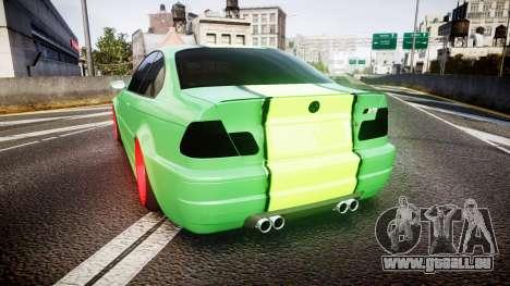 BMW M3 E46 Green Editon für GTA 4 hinten links Ansicht
