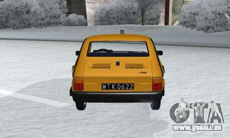 Fiat 126p FL pour GTA San Andreas vue arrière
