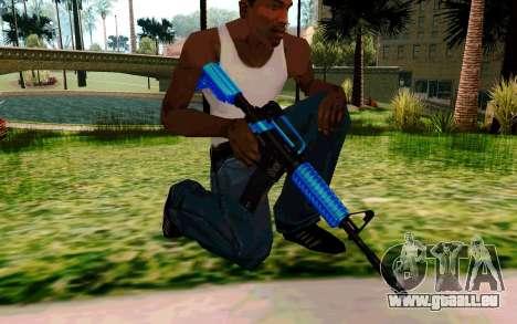 M4 Blue pour GTA San Andreas quatrième écran