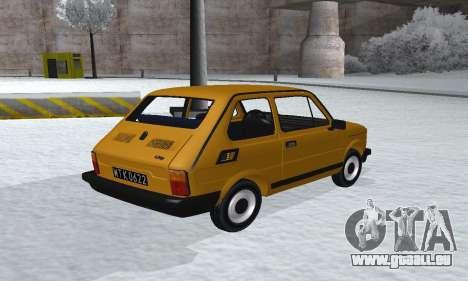 Fiat 126p FL pour GTA San Andreas laissé vue