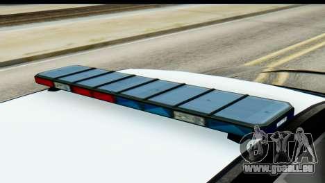 GTA 5 Buffalo S Police SF pour GTA San Andreas sur la vue arrière gauche