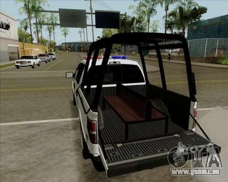 Ford F-150 für GTA San Andreas zurück linke Ansicht