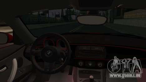 BMW Z4 M85 pour GTA San Andreas vue arrière