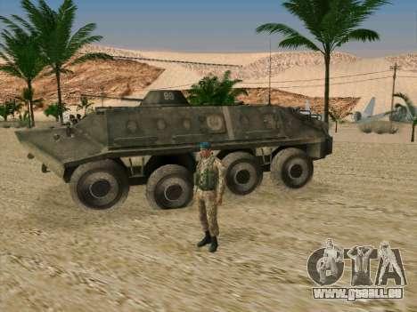 Grenadier VDV pour GTA San Andreas troisième écran