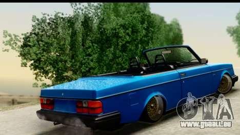 Volvo 242 Cabrio pour GTA San Andreas laissé vue