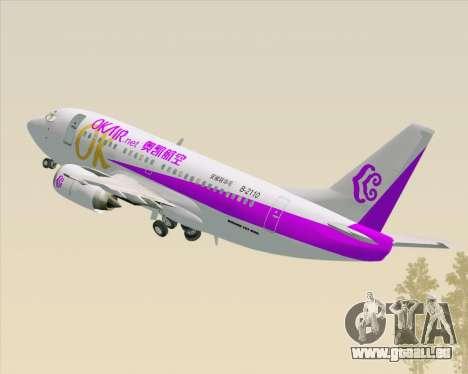 Boeing 737-500 Okay Airways für GTA San Andreas obere Ansicht