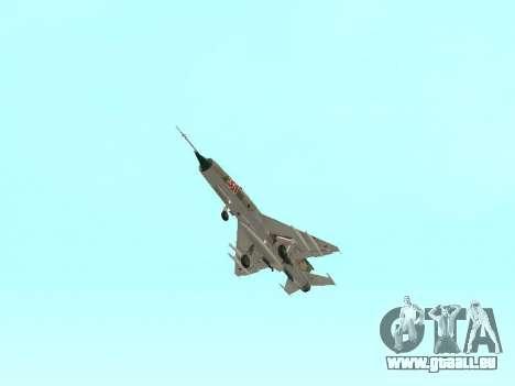 MiG 21 der sowjetischen Luftwaffe für GTA San Andreas obere Ansicht