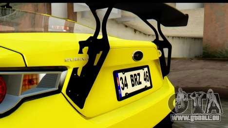 Subaru BRZ 2013 pour GTA San Andreas vue intérieure