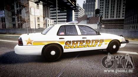 Ford Crown Victoria Sheriff Liberty [ELS] pour GTA 4 est une gauche